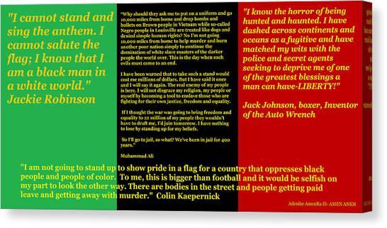 Colin Kaepernick Rbg Canvas Print