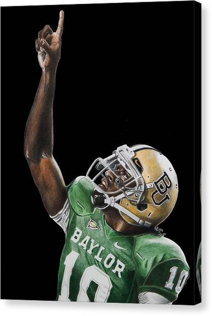 Baylor University Canvas Print - Rgiii by Brian Broadway