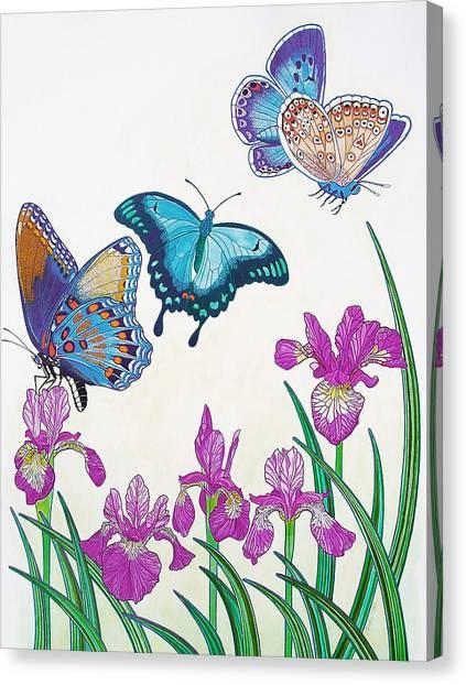 Rhapsody In Blue Canvas Print by Vlasta Smola