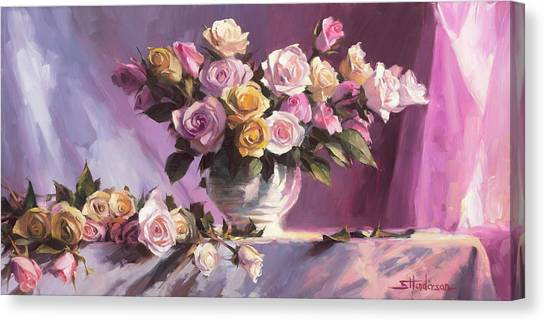 Peaches Canvas Print - Rhapsody Of Roses by Steve Henderson