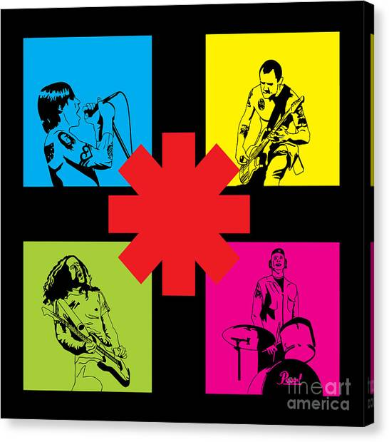 Famous Artists Canvas Print - Rhcp No.01 by Fine Artist