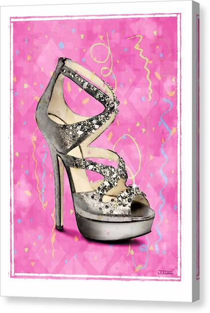 Rhinestone Party Shoe Canvas Print