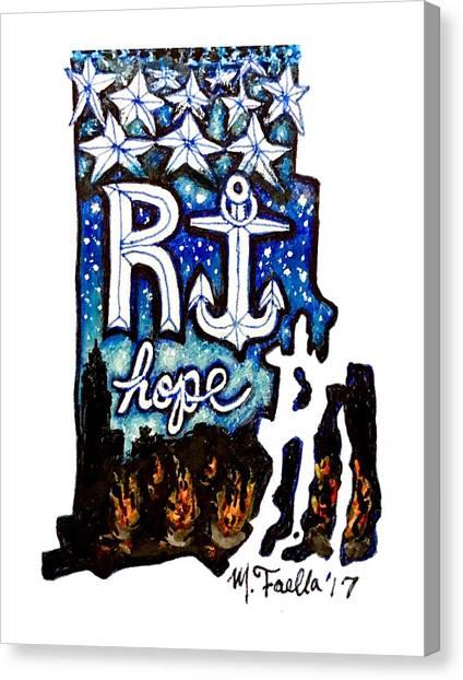 Rhode Island, Hope Canvas Print