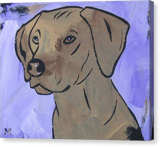 Canvas Print featuring the painting Rhodesian Ridgeback by Candace Shrope