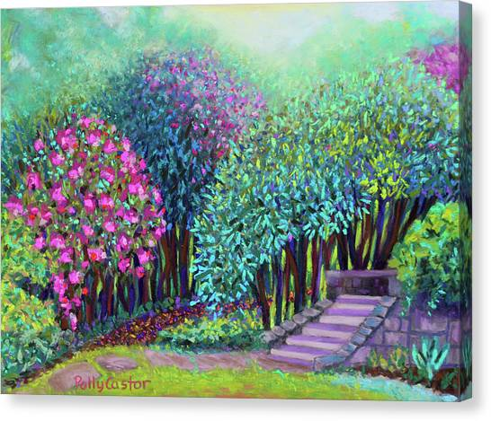Rhododendrons In The Sunken Garden Canvas Print