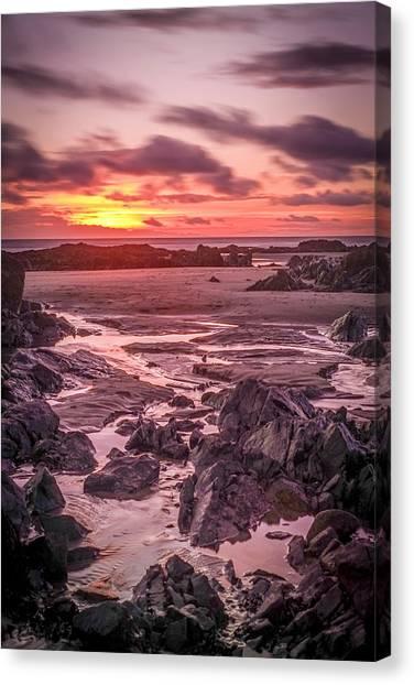 Rhosneigr Beach At Sunset Canvas Print