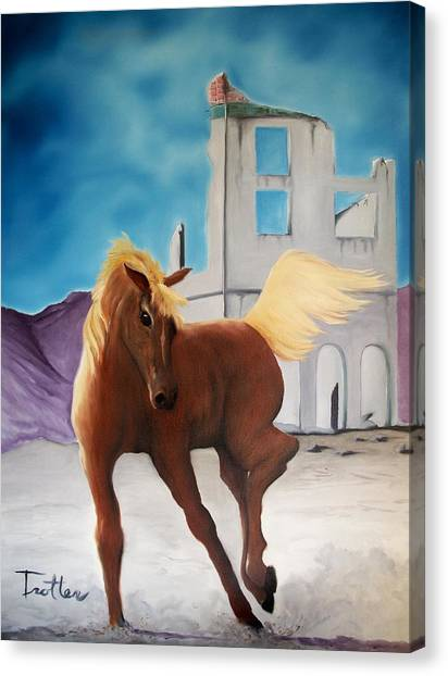 Rhyolite Pony Canvas Print by Patrick Trotter