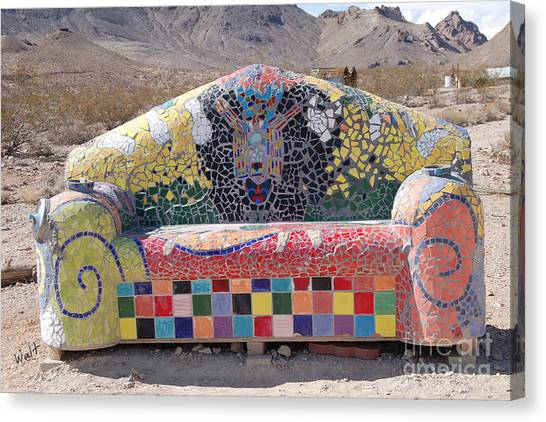 Rhyolite Sofa Canvas Print