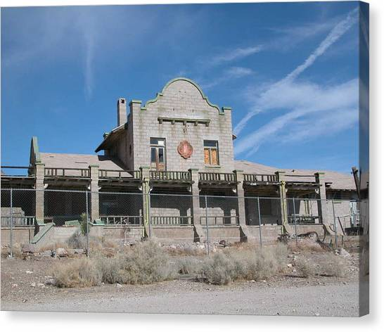 Rhyolite Station Canvas Print by William Thomas