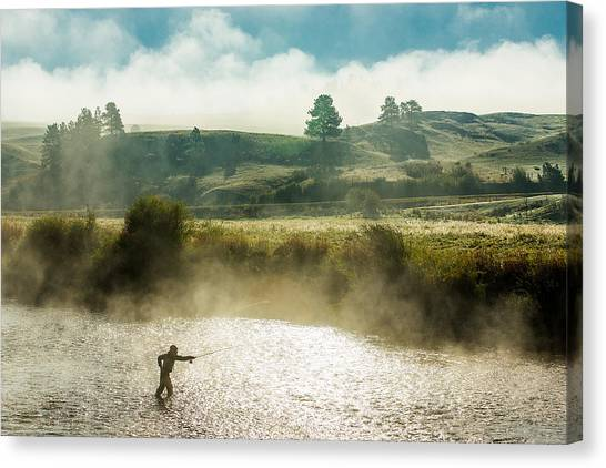 Angling Canvas Print - Rhythm And Grace by Todd Klassy