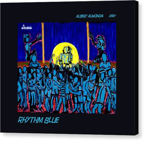 Rhythm Blue Canvas Print by Albert Almondia