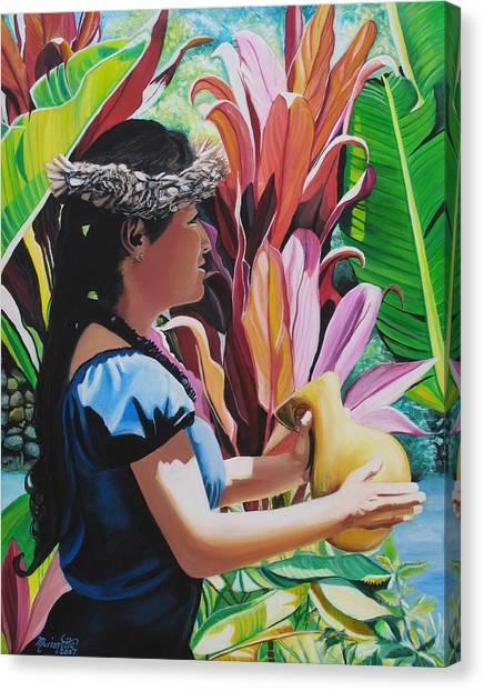 Rhythm Of The Hula Canvas Print