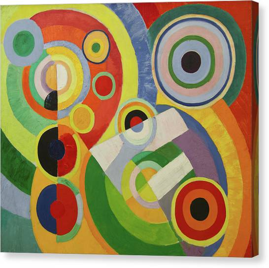 Lyrical Abstraction Canvas Print - Rhythm by Robert Delaunay