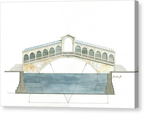 Italy Canvas Print - Rialto Bridge Venice by Juan Bosco