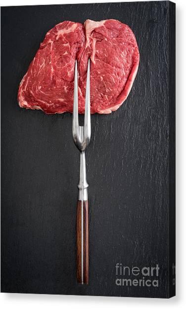 Ribeye Canvas Print - Rib Eye Steak by Elisabeth Coelfen