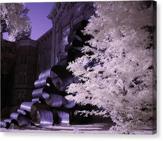Ohio University Canvas Print - Ribbon by Bob LaForce