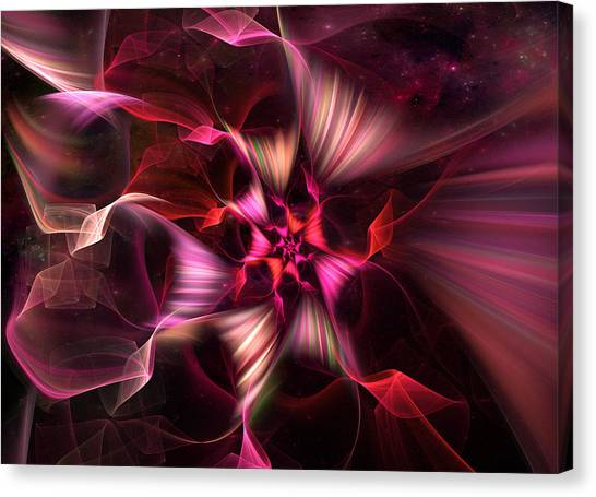 Ribbon Candy Rose Canvas Print