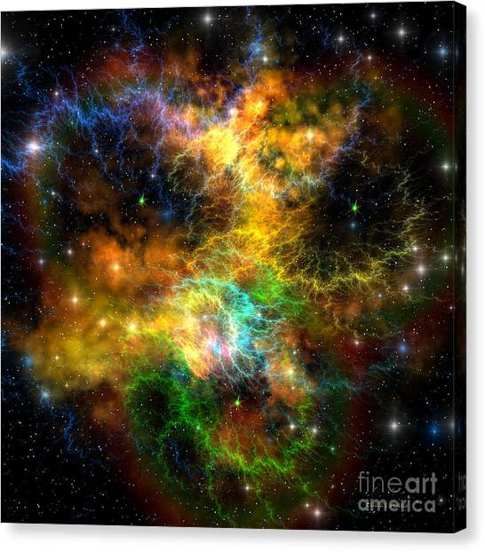 Stellar Canvas Print - Ribbon Nebula by Corey Ford