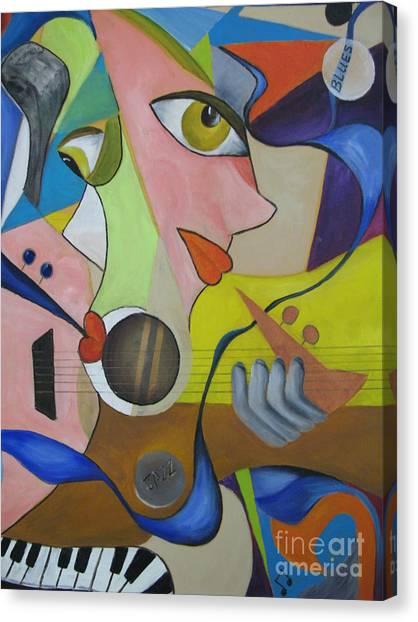 Ribbon Of Blues And Jazz Canvas Print