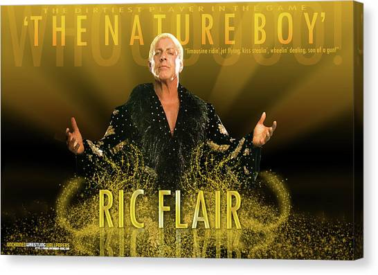 Ric Flair Canvas Print - Ric Flair by Dorothy Binder