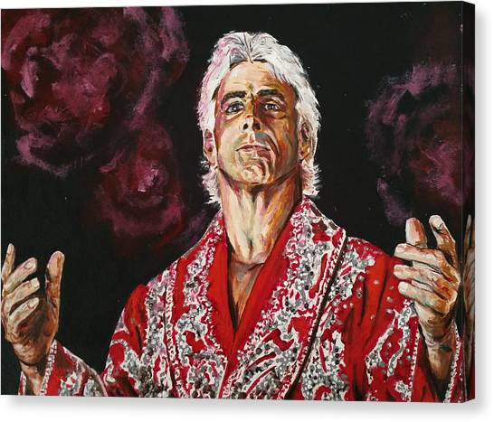 Wwe Canvas Print - Ric Flair by Joel Tesch