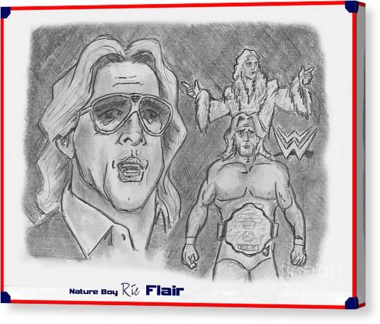 Ric Flair Canvas Print - Ric Flair -the Nature Boy by Chris  DelVecchio