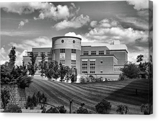 Evansville Canvas Print - Rice Library II B W by Sandy Keeton