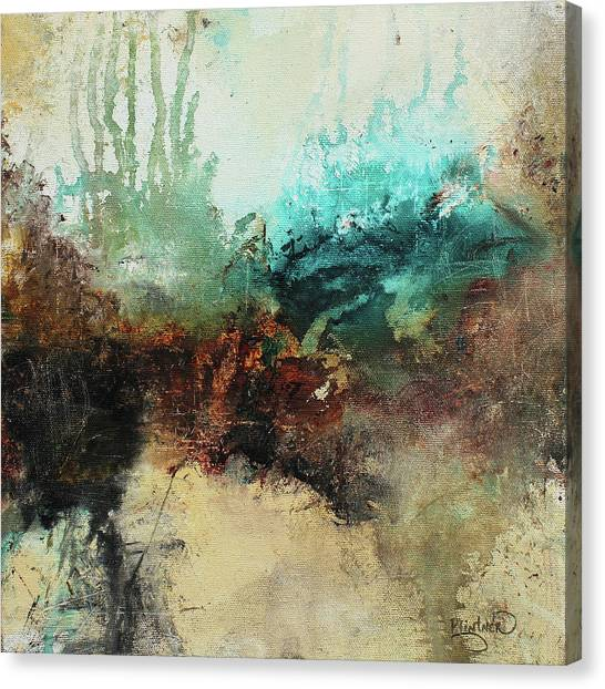 Rich Earth Tones Abstract Not For The Faint Of Heart Canvas Print