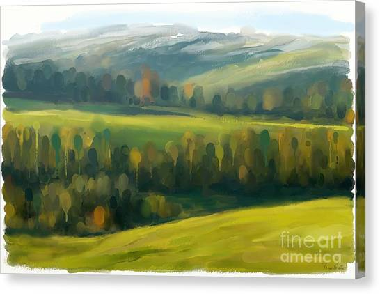 Canvas Print featuring the painting Rich Landscape by Ivana Westin