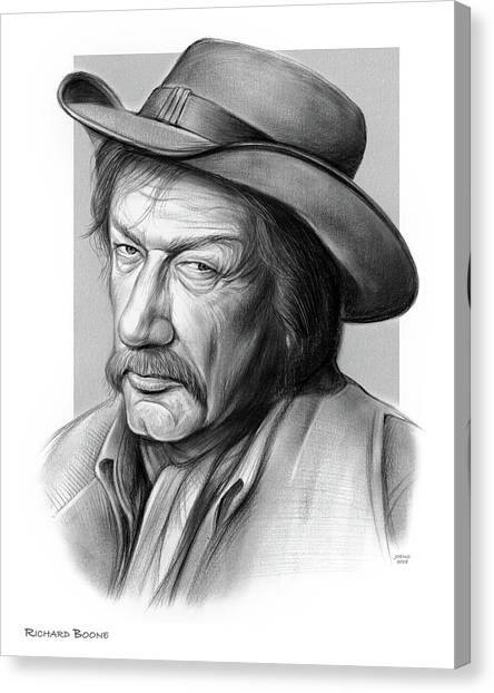 Cowboy Canvas Print - Richard Boone 3 by Greg Joens