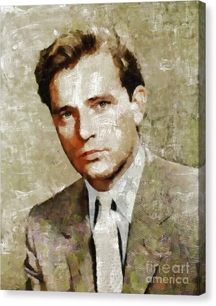 Burton Canvas Print - Richard Burton, Actor by Mary Bassett