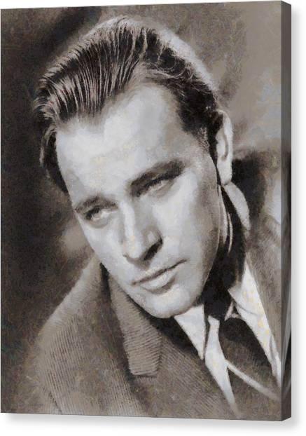 Burton Canvas Print - Richard Burton Hollywood Actor by John Springfield