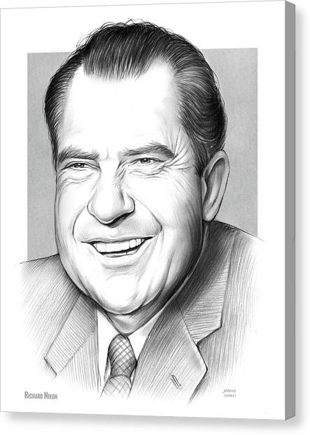 U. S. Presidents Canvas Print - Richard Nixon by Greg Joens