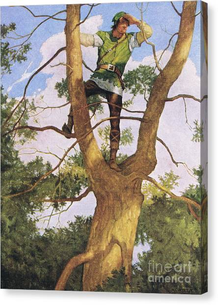 Sherwood Forest Canvas Print - Richard Shelton by Newell Convers Wyeth