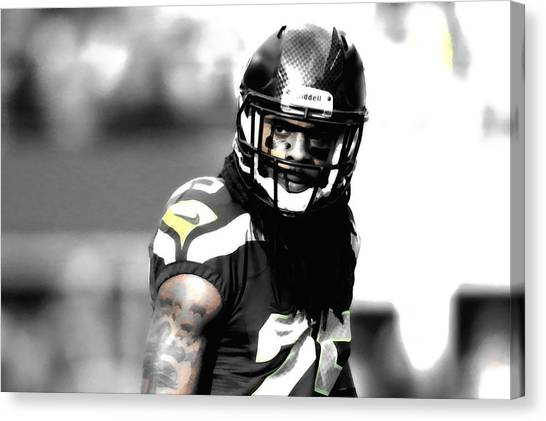 University Of Wisconsin - Madison Canvas Print - Richard Sherman Stay Focused by Brian Reaves