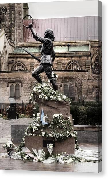 Richard The Third Statue Canvas Print