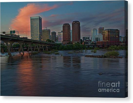 Richmond Dusk Skyline Canvas Print