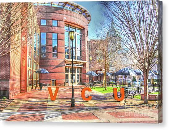 Virginia Commonwealth University Vcu Canvas Print - Richmond Va Virginia - Vcu -  Shafer Court by Dave Lynch