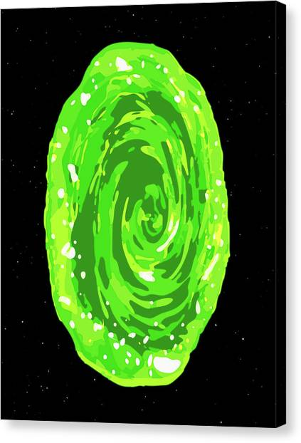 Canvas Print featuring the digital art Wall Portal - Rick And Morty by Rick And Morty