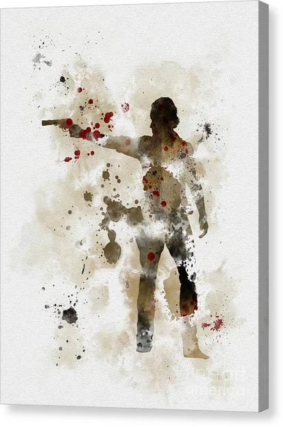 Apocalypse Canvas Print - Rick Grimes  by Rebecca Jenkins
