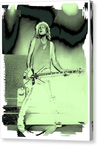 Def Leppard Canvas Print - Rick Savage - Def Leppard by David Patterson