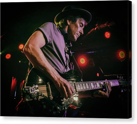 Slide Guitars Canvas Print - Rick Vito Mick Fleetwood Band by Christopher Cutter