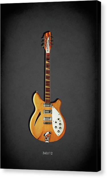 Fender Guitars Canvas Print - Rickenbacker 360 12 1964 by Mark Rogan