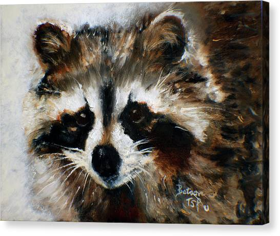 Rickey Raccoon Canvas Print