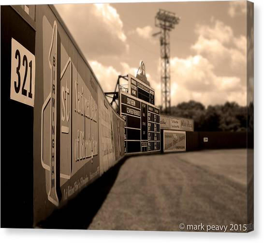 Rickwood Field Fence Canvas Print