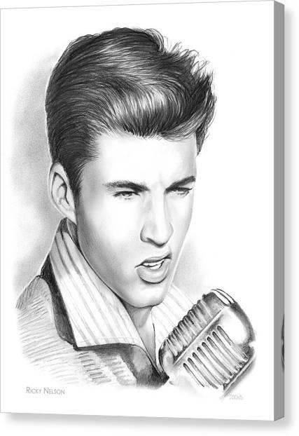 Canvas Print - Ricky Nelson by Greg Joens