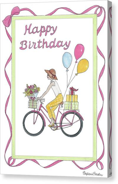 Ride In Style - Happy Birthday Canvas Print