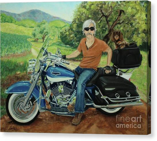 Ride In The Birksire's Canvas Print
