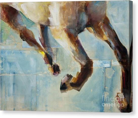 Abstract Horse Canvas Print - Ride Like You Stole It by Frances Marino