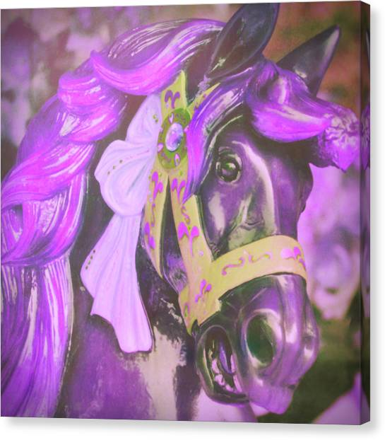 Ride Of Old Purples Canvas Print